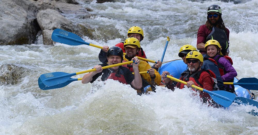 Tad Smith rafting in Colorado
